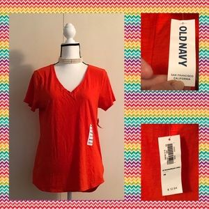 Cute Red Short Sleeved T Shirt Old Navy NWT (M)